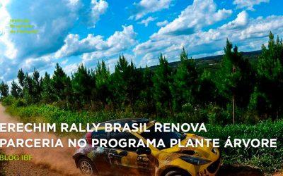 Erechim Rally Brasil renova parceria no Programa Plante Árvore