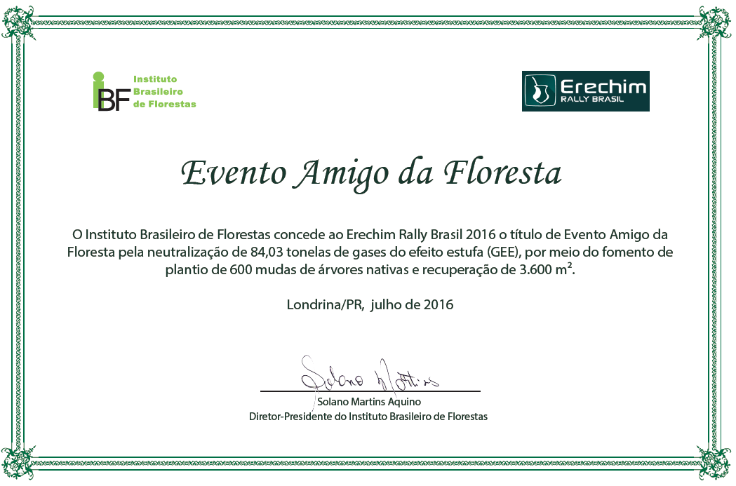 certificado evento amigo floresta logo rally erechim 2016