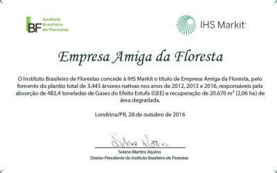 IHS Markit e Plante Árvore