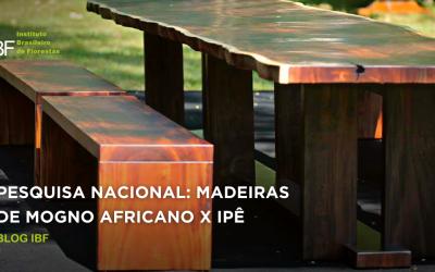 Pesquisa nacional: madeira de Mogno Africano x Ipê