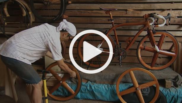 video bicicleta mogno