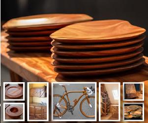 objetos de madeira